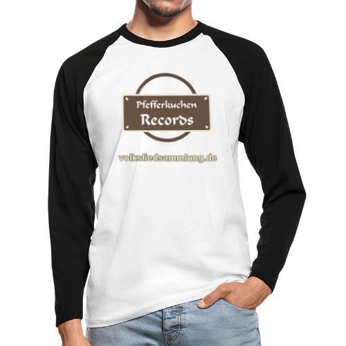 Pfefferkuchen Records Label - Volksliedsammlung - Männer Baseballshirt langarm