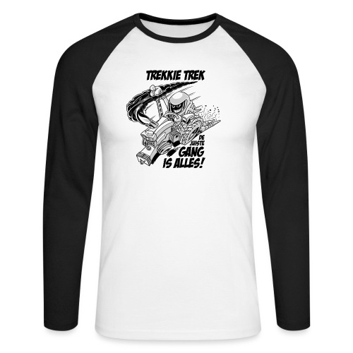 0966 trekkie trek bw - Mannen baseballshirt lange mouw