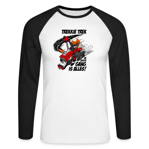 0966 trekkie trek - Mannen baseballshirt lange mouw