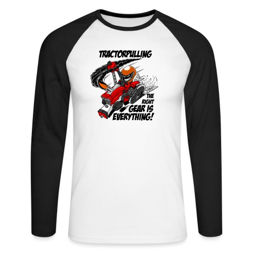 0966 tractorpulling - Mannen baseballshirt lange mouw