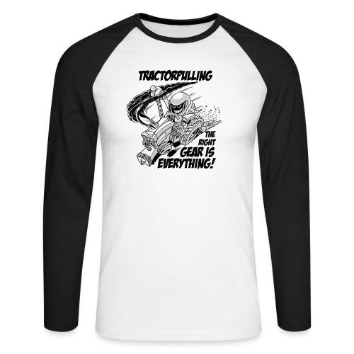 0966 tractorpulling BW - Mannen baseballshirt lange mouw