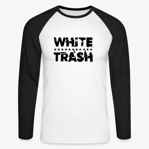 White Trash Svart - Långärmad basebolltröja herr