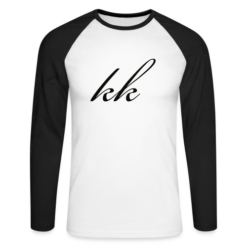 KrazyKid Plain White Tshirt - Men's Long Sleeve Baseball T-Shirt