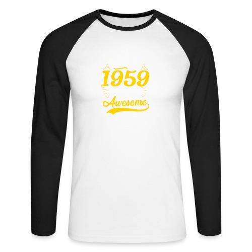 Vintage 1959 60th Birthday - Maglia da baseball a manica lunga da uomo