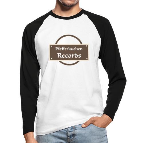 Pfefferkuchen Records Label - Männer Baseballshirt langarm