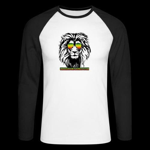 RASTA REGGAE LION - Männer Baseballshirt langarm