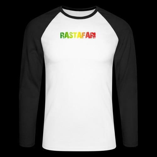 RASTAFARI - PEACE LOVE & UNITY - Männer Baseballshirt langarm