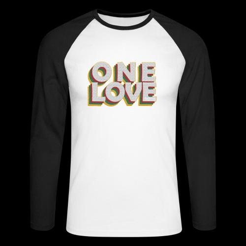 ONE LOVE - Männer Baseballshirt langarm