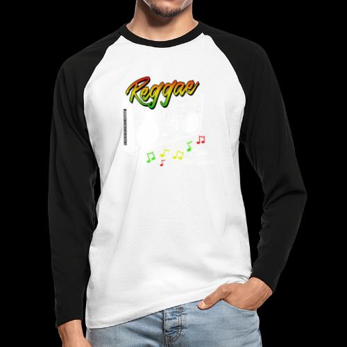 Reggae - Catch the Wave - Männer Baseballshirt langarm