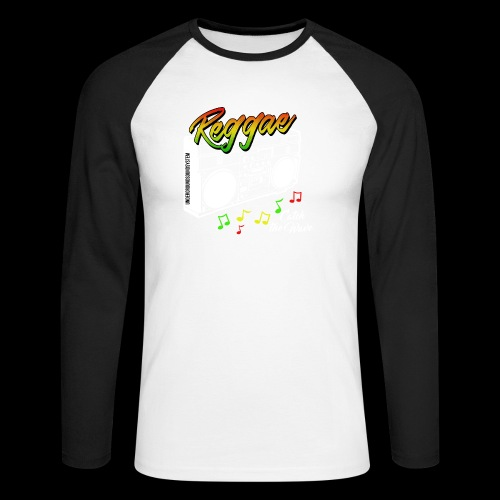 Reggae - Catch the Wave - Männer Baseballshirt langarm