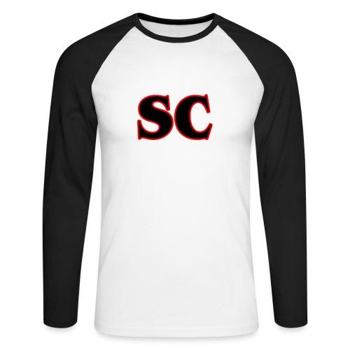 Classic StrangeCommunity logo - Mannen baseballshirt lange mouw