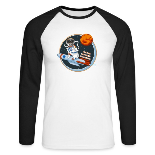 Astrodog - Männer Baseballshirt langarm