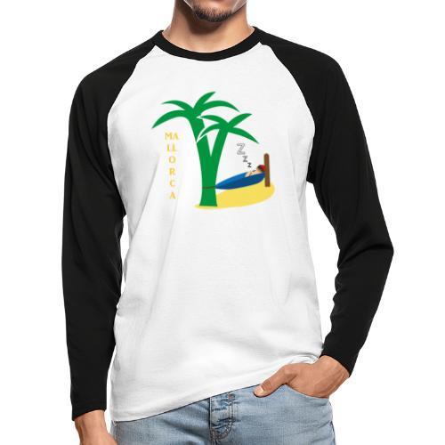 Mallorca - Urlaub unter Palmen - Männer Baseballshirt langarm
