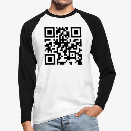 QR Code - Men's Long Sleeve Baseball T-Shirt