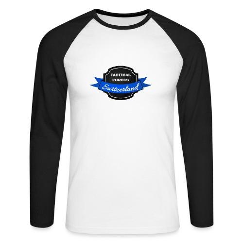 TFS Ruban noir et bleu - T-shirt baseball manches longues Homme