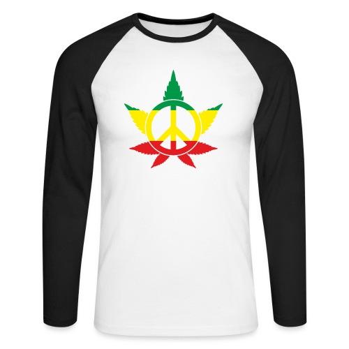 Peace färbig - Männer Baseballshirt langarm