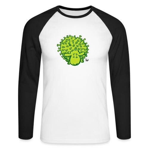 Wirus owiec - Koszulka męska bejsbolowa z długim rękawem