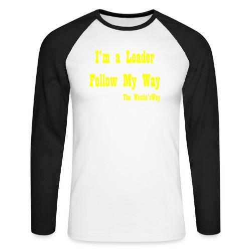 Follow My Way Yellow - Koszulka męska bejsbolowa z długim rękawem