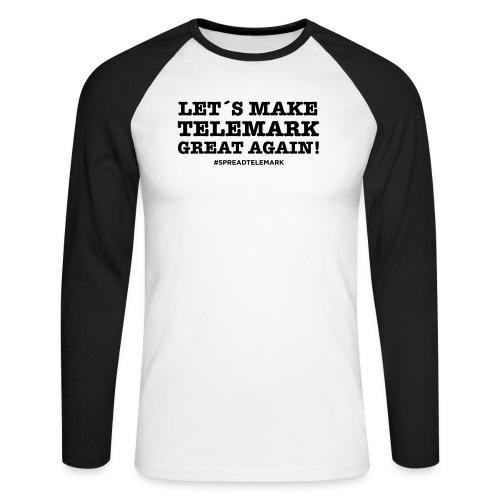 Let´s make telemark great again - Miesten pitkähihainen baseballpaita