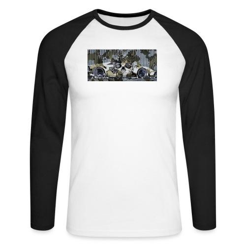 calavera style - Men's Long Sleeve Baseball T-Shirt