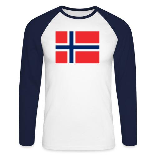 DixieMertch - Langermet baseball-skjorte for menn