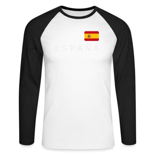 BCN ESPAÑA white-lettered 400 dpi - Men's Long Sleeve Baseball T-Shirt
