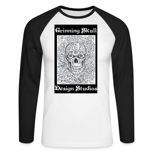 grims1 jpg - Men's Long Sleeve Baseball T-Shirt