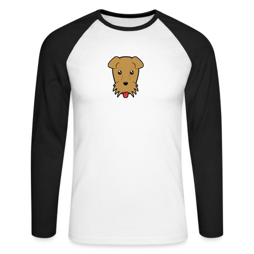 Shari the Airedale Terrier - Men's Long Sleeve Baseball T-Shirt