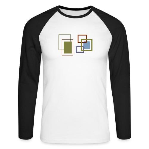 Quadratisch - Männer Baseballshirt langarm