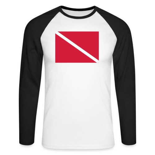Diver Flag - Men's Long Sleeve Baseball T-Shirt