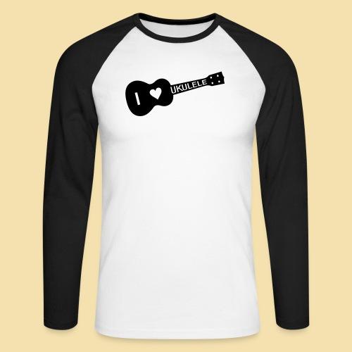 I love UKULELE - Männer Baseballshirt langarm
