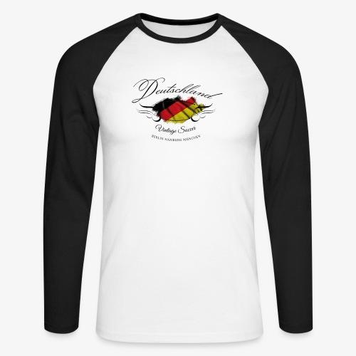 Vintage Deutschland - Männer Baseballshirt langarm