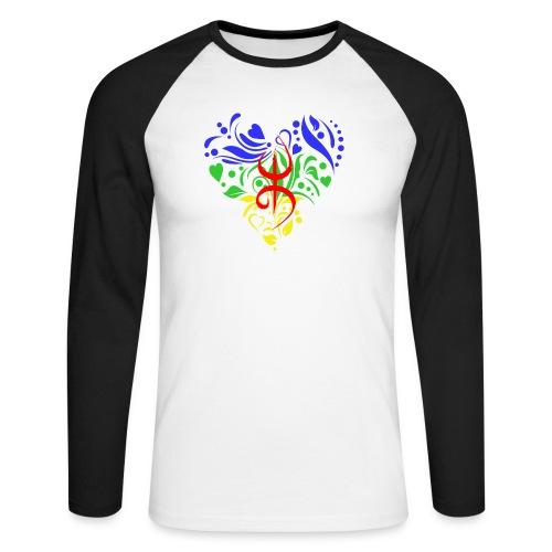 Amazigh berbère Coeur - T-shirt baseball manches longues Homme