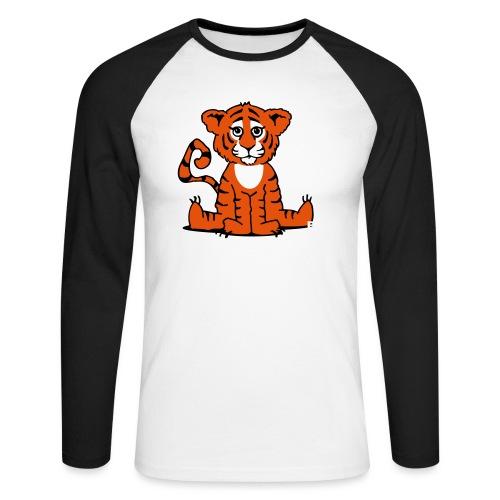 Tiger cub - Men's Long Sleeve Baseball T-Shirt