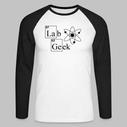 Lab Geek Atom - Men's Long Sleeve Baseball T-Shirt