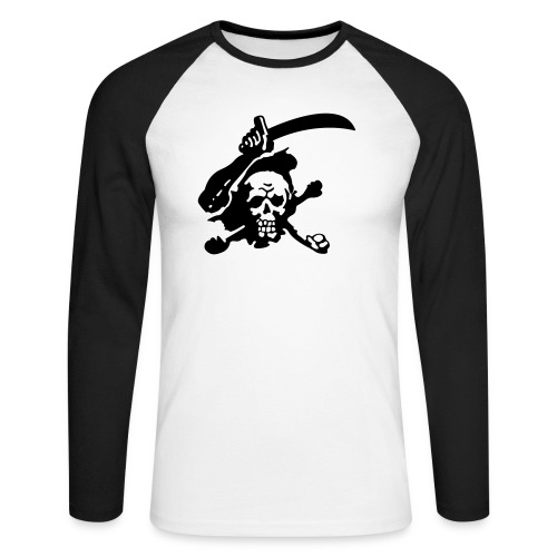 Skull Attack - Men's Long Sleeve Baseball T-Shirt