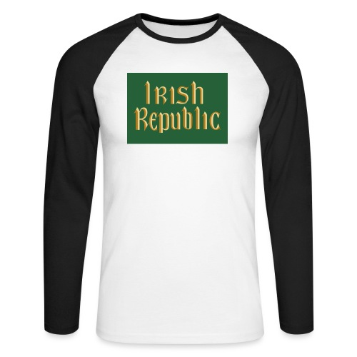 Original Irish Republic Flag - Men's Long Sleeve Baseball T-Shirt
