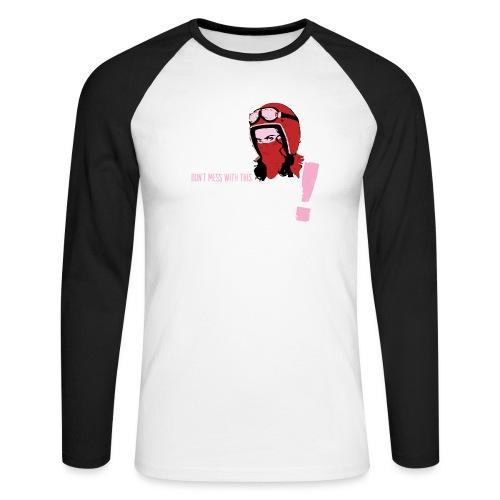 Biker Mum T-Shirt - Men's Long Sleeve Baseball T-Shirt