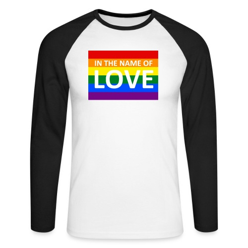 IN THE NAME OF LOVE RETRO T-SHIRT - Langærmet herre-baseballshirt
