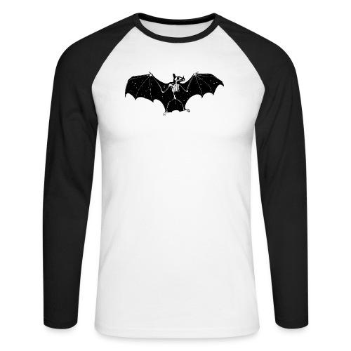 Bat skeleton #1 - Men's Long Sleeve Baseball T-Shirt