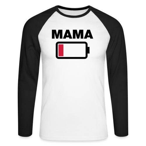 Batterij mama leeg - Mannen baseballshirt lange mouw