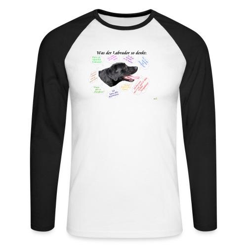 Labrador Gedanken - Männer Baseballshirt langarm