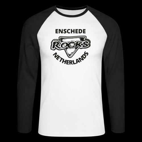Rocks Enschede NL B-WB - Mannen baseballshirt lange mouw