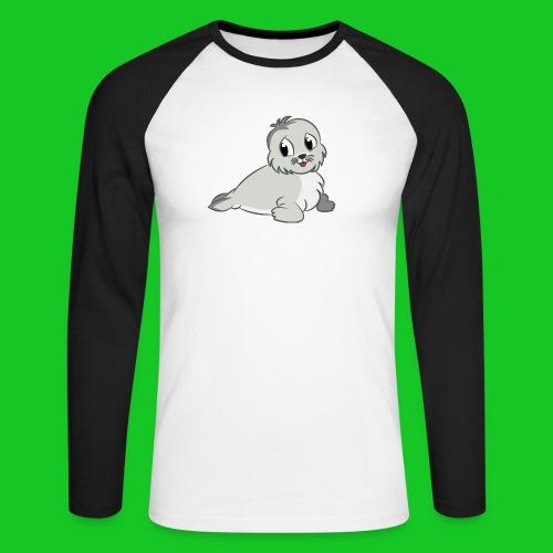 Zeehondje - Mannen baseballshirt lange mouw