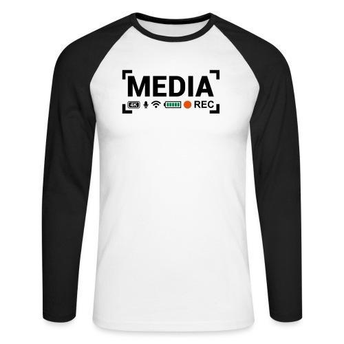 MEDIA Crew - Maglia da baseball a manica lunga da uomo