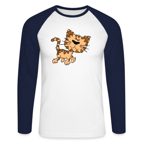 Cat - Männer Baseballshirt langarm