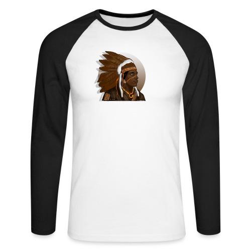 indio apache - Raglán manga larga hombre