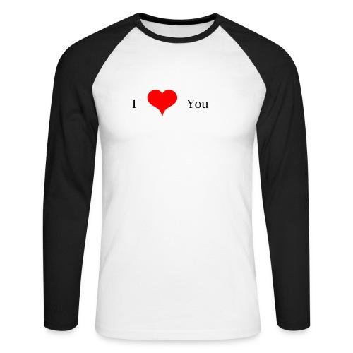 I Love you - Männer Baseballshirt langarm