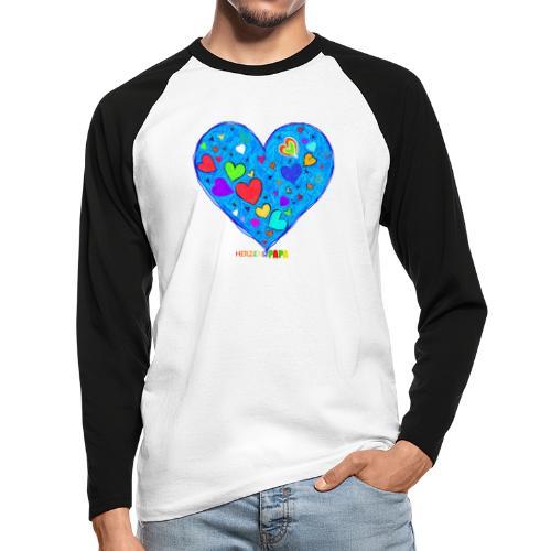 Herzenspapa - Männer Baseballshirt langarm