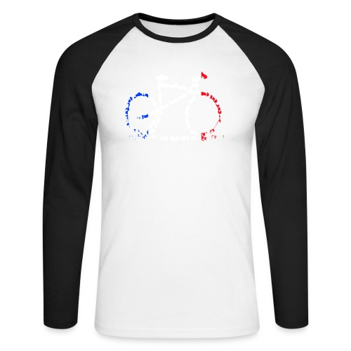 French bike chain - Men's Long Sleeve Baseball T-Shirt